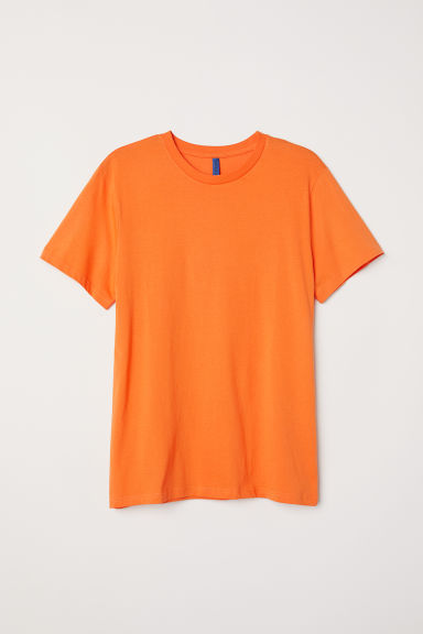 Round-necked T-shirt - Orange - Men | H&M