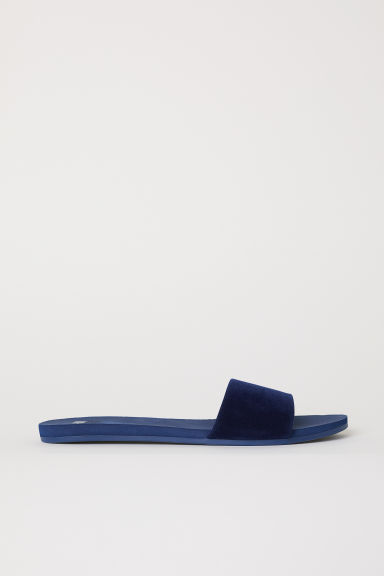 Mules - Dark blue - Ladies | H&M