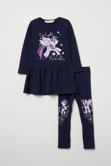 Jurk en legging - Donkerblauw/My Little Pony - KINDEREN | H&M BE