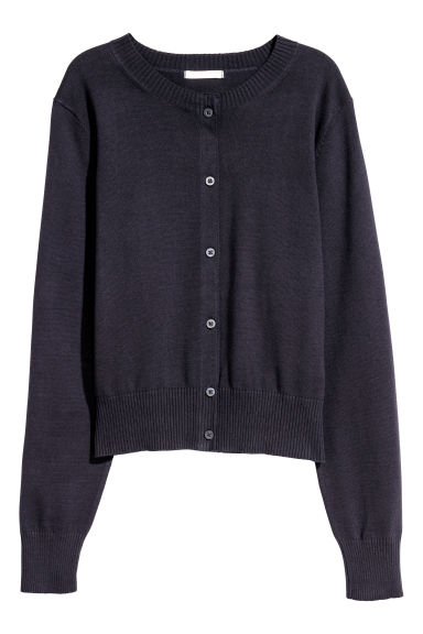 Cotton cardigan - Dark blue - Ladies | H&M CN