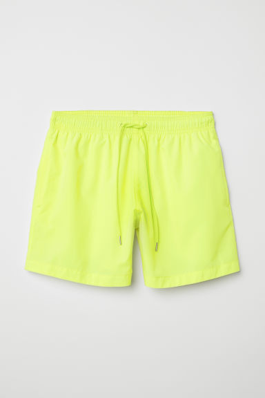 Swim shorts - Neon yellow - Men | H&M CN