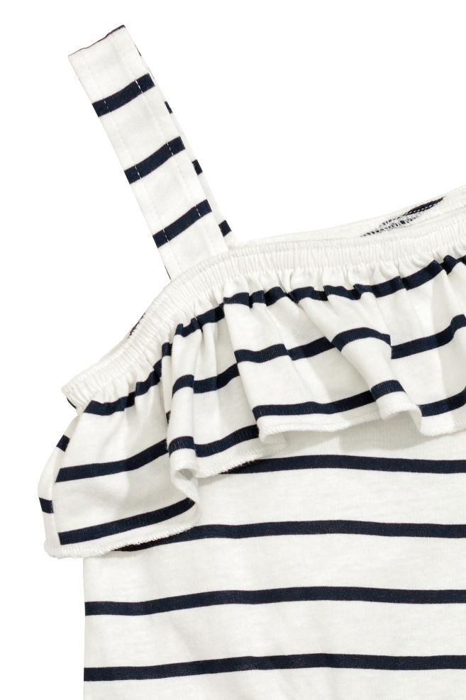 d3b41eb08b11 Jersey Jumpsuit - White blue striped - Kids