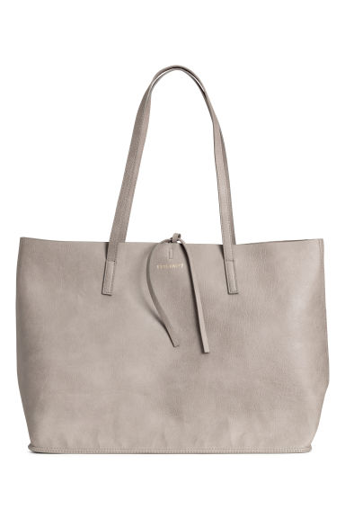 Reversible shopper - Grey beige -  | H&M