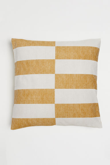Copricuscino fantasia - Giallo scuro/beige righe - HOME | H&M IT