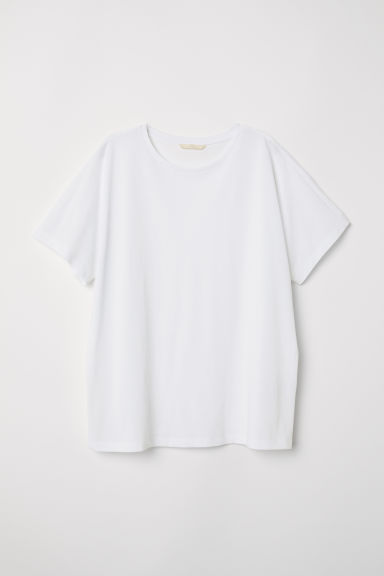 Top with dolman sleeves - White - Ladies | H&M