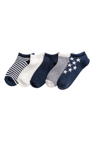 5-pack trainer socks - Dark blue/Striped -  | H&M CN