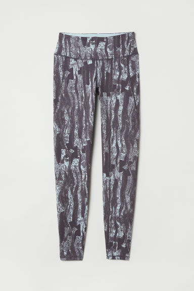 Sports tights - Grey/Patterned - Ladies | H&M