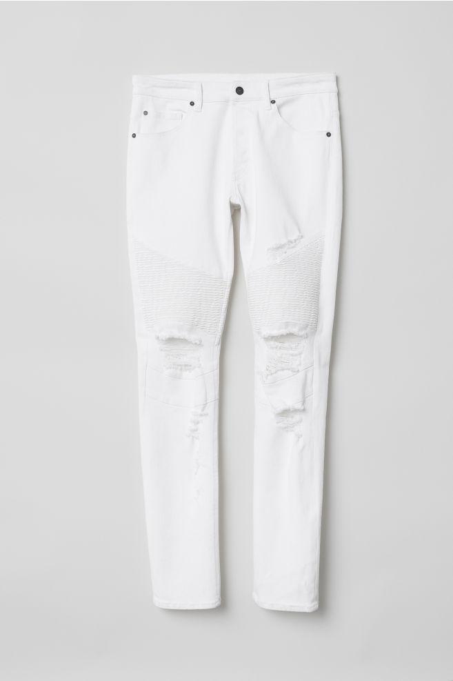 Biker Jeans White Men H M Us