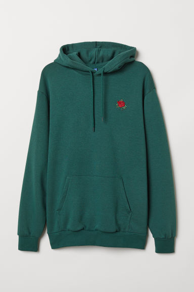Hooded top - Dark green/Rose - Men | H&M CN