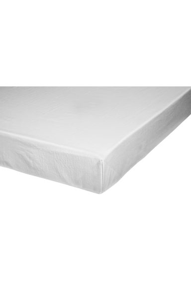 Cotton flat sheet - Light grey -  | H&M IE