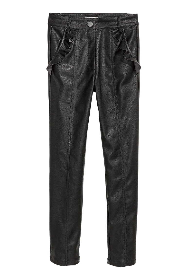 Frilled trousers - Black - Ladies | H&M CN