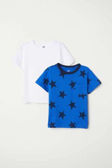 2-pack T-shirts - Blue/Stars -  | H&M