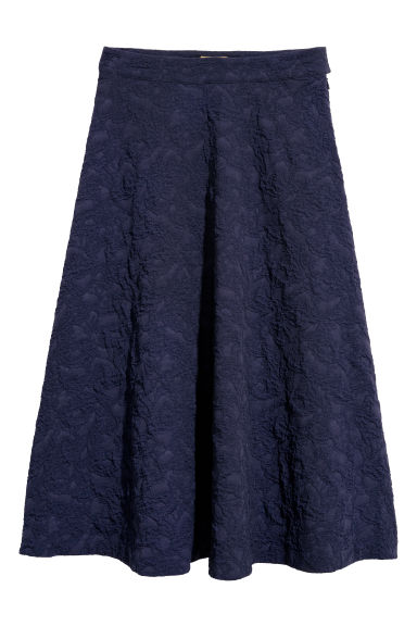 Jacquard-weave skirt - Dark blue - Ladies | H&M CN