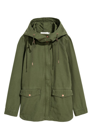 Cotton twill jacket - Khaki green - Ladies | H&M