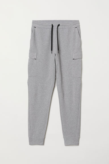 Sports trousers with pockets - Grey marl - Men | H&M