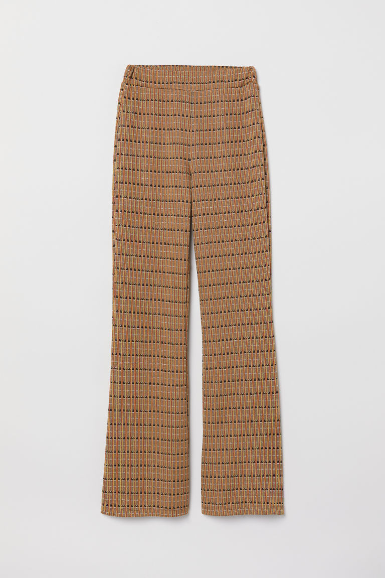 Pull-on trousers - Beige/Patterned - Ladies | H&M CN