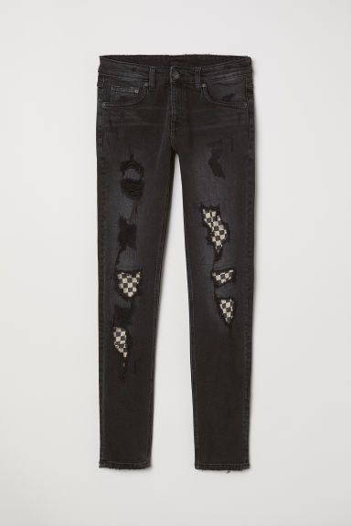 Trashed Jeans - Black - Men | H&M