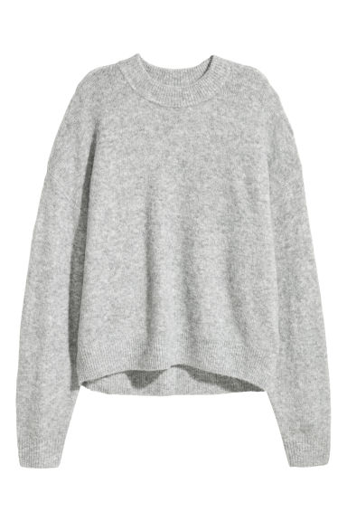 Fine-knit jumper - Light grey - Ladies | H&M CN