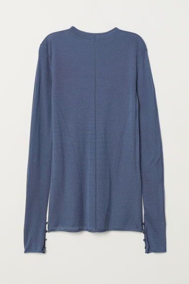Fine-knit wool-blend jumper - Pigeon blue -  | H&M
