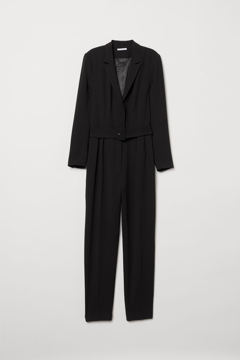Long-sleeved jumpsuit - Black - Ladies | H&M GB