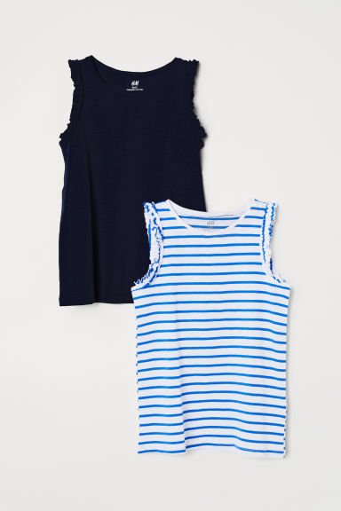 2-pack vest tops - Dark blue - Kids | H&M CN