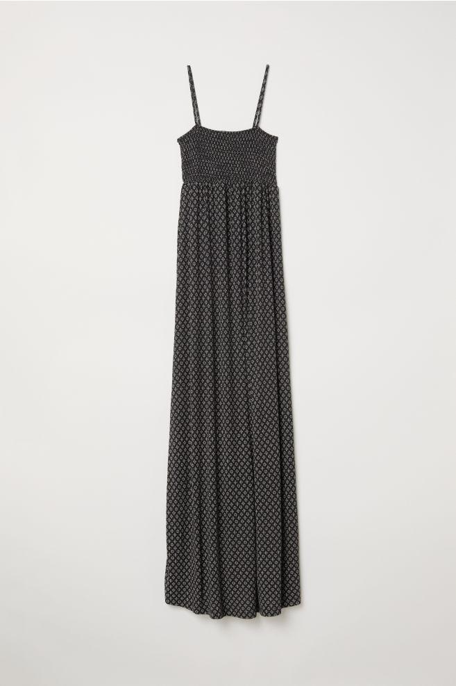 1b9bd4335b1f8 MAMA Long Jersey Dress - Black/patterned - Ladies | H&M ...
