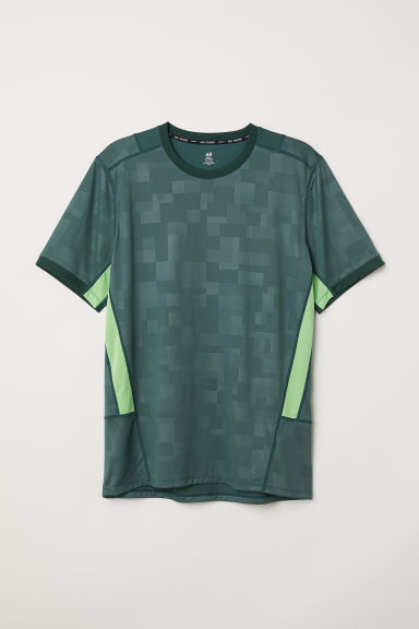 Sports top - Dark green/Patterned - Men | H&M