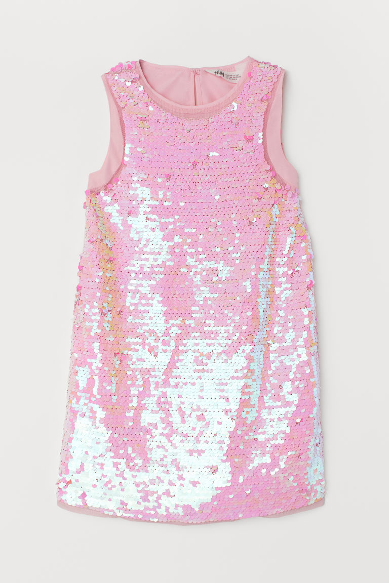 Sequined dress - Pink - Kids | H&M CN