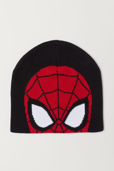Knitted hat - Black/Spider-Man - Kids | H&M CN
