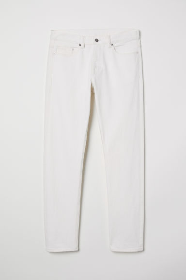 Slim Straight Selvedge Jeans - White - Men | H&M CN