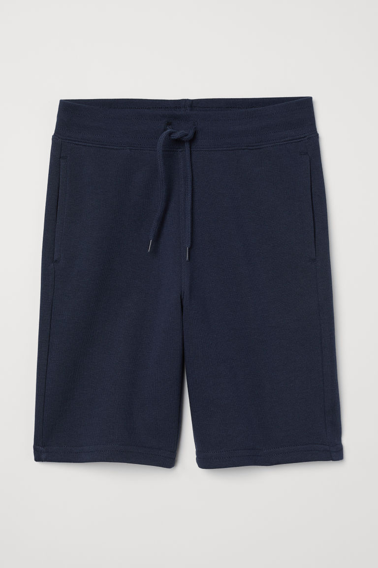 Sweatshirt shorts - Dark blue - Kids | H&M GB