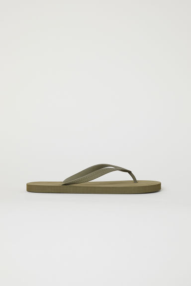 Flip-flops - Khaki green - Men | H&M CN