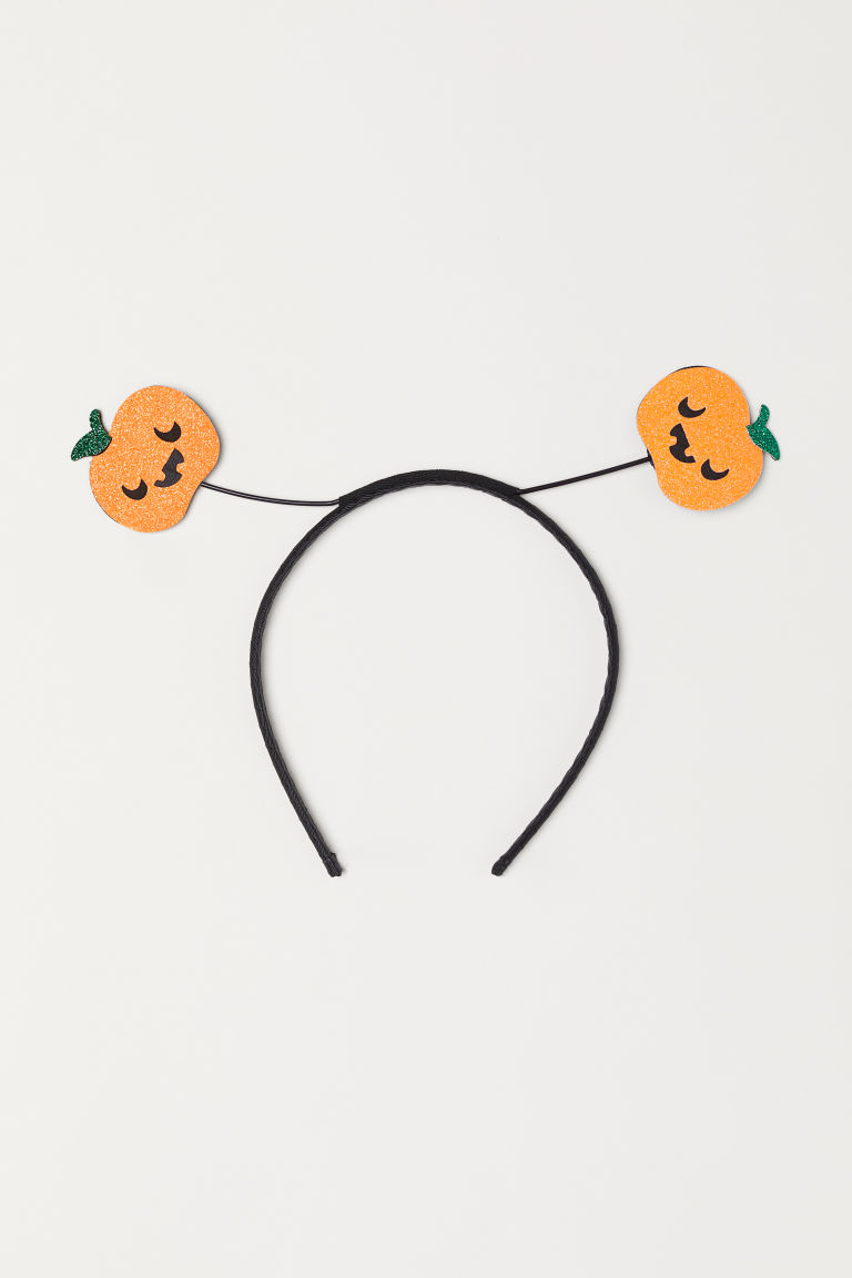 Alice band with pumpkins - Black/Pumpkins - Kids | H&M CN