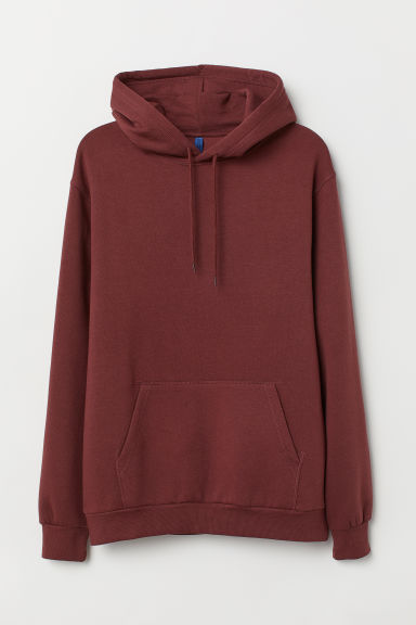 Hooded top - Dark red - Men | H&M GB