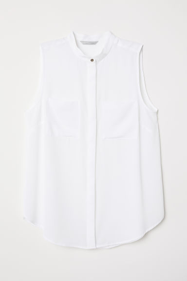 Blouse with pockets - White - Ladies | H&M