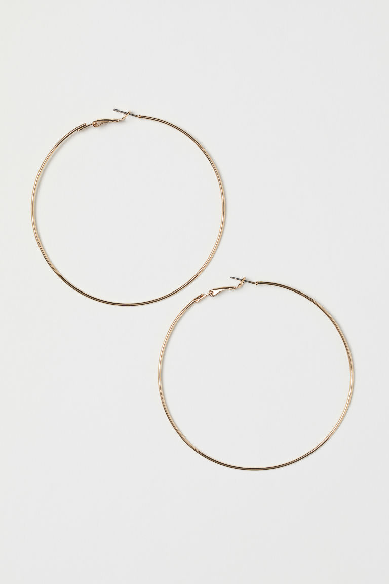 Hoop earrings - Gold-coloured -  | H&M CN