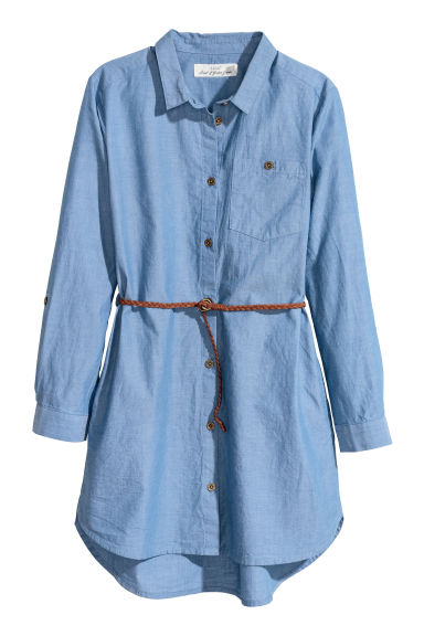 Shirt dress - Blue/Chambray - Kids | H&M CN