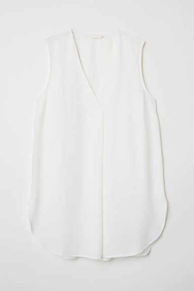 V-neck blouse - White - Ladies | H&M