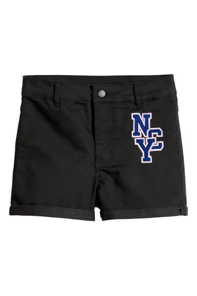 Twill shorts - Black/NYC -  | H&M CN