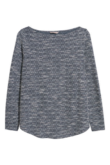 H&M+ Long-sleeved top - Dark blue - Ladies | H&M