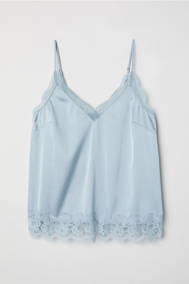 b4fad53416dac Satin cami top - Light grey-blue -