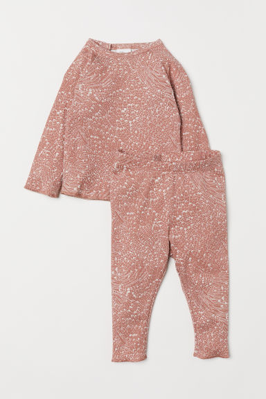 Top and trousers - Light brown/Patterned - Kids | H&M