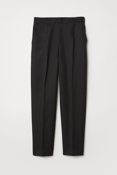 Pantaloni in misto lana - Nero - DONNA | H&M IT