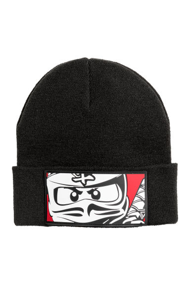 Knitted hat - Black/Lego - Kids | H&M CN