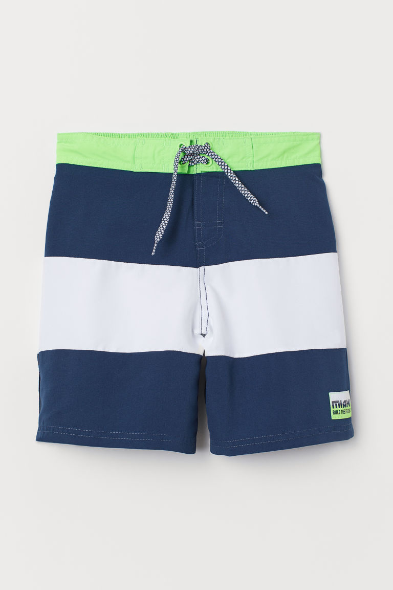 Swim shorts - Dark blue/White - Kids | H&M GB