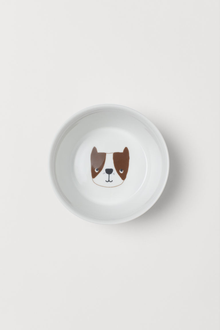 Bowl with Animal Motif - White/dog - Home All | H&M US