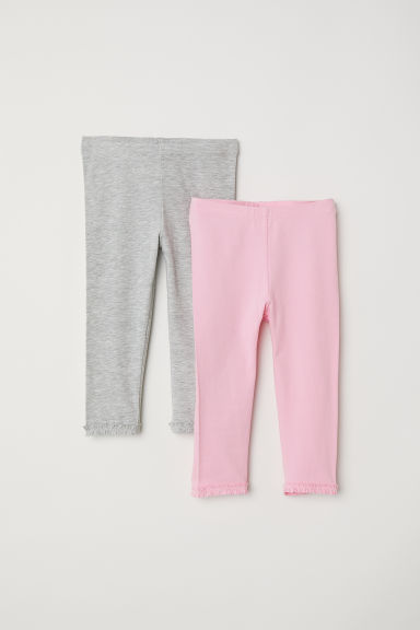 Leggings 3/4, lot de 2 - Rose/gris chiné -  | H&M CH