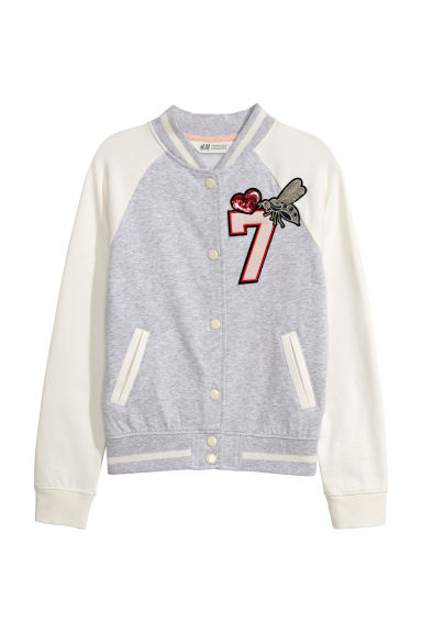 Baseball jacket - Grey marl - Kids | H&M CN