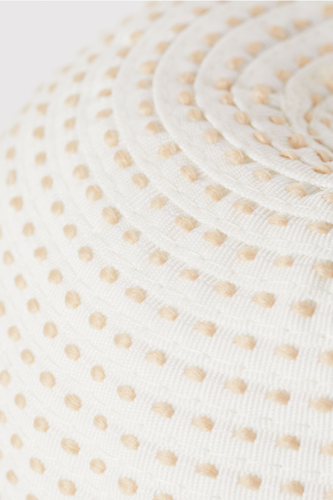 9e91be4971fd38 Sun hat with straw detail - White/Patterned - Ladies | H&M ...