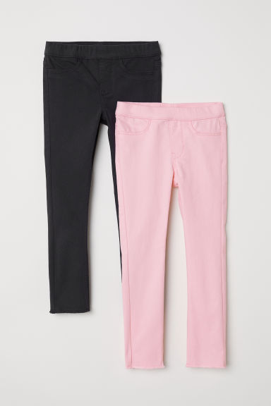 2-pack treggings - Pink/Dark blue - Kids | H&M CN